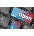 open button on the computer keyboard vector image vector image
