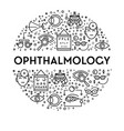 ophthalmology banner with eyesight testing linear vector image vector image