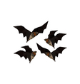 origami flying bats vector image vector image