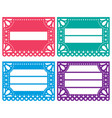 papel picado design templates set - mexican vector image vector image