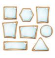paper sheets signs on cardboard set vector image vector image