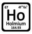 Periodic table element holmium icon vector image vector image