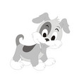 puppy dog cartoon character vector image