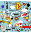 Retro Seamless Pattern with Comic vector image vector image