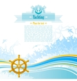 Sea background in blue colors with net foam and vector image vector image