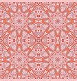 seamless pattern doodle ornament colorful vector image
