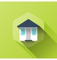 simple of house icon in flat style vector image vector image