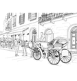 sketch a carriage in street vector image vector image