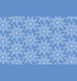 snowflakes seamless pattern snow background vector image