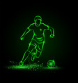 soccer player dribbling with ball football vector image vector image