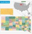 South Dakota map vector image vector image