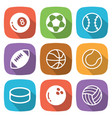 sport balls flat icon with shadow vector image