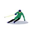 sport downhill skiing slalom vector image