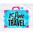 Suitcase watercolors travel vector image vector image