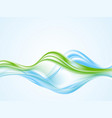 transparent swoosh abstract wave background vector image vector image