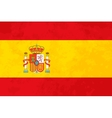 True proportions Spain flag with texture vector image vector image