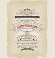 vintage invitation poster vector image