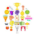 win icons set cartoon style vector image