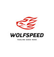 wolf speed logo vector image