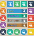 zodiac Cancer icon sign Set of twenty colored flat vector image