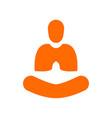 creative abstract simple yoga meditation orange vector image