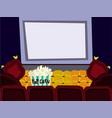 cartoon flat cinema hall interior vector image