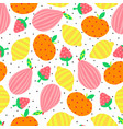 abstract fruit seamless background pear vector image