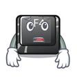 afraid button f4 in shape cartoon