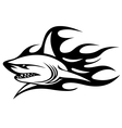 Angry shark with black flames vector | Price: 1 Credit (USD $1)