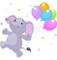 baelephant with balloons vector image