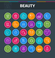 beaty salon colorful icons vector image