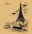 beige hand drawing paris 3 vector image vector image