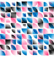 blue pink black abstract rounded mosaic background vector image