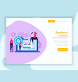 business analytics web landing page vector image vector image