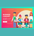 business concept business team vector image vector image