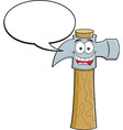 Cartoon hammer with a caption balloon vector image