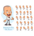 cartoon waiter boy big set for animation vector image vector image