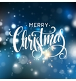 Christmas lettering on Snowflake sparkle vector image vector image