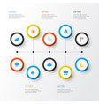 climate flat icons set collection of drop vector image vector image