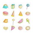 cute funny girl teenager colored icon set fashion vector image