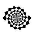 design monochrome spiral movement background vector image vector image