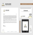 dish business letterhead calendar 2019 and mobile vector image vector image