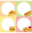 fast food backgrounds vector image vector image