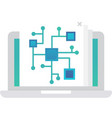 file system icon big data info systematization vector image