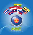 flag asean economic community aec 02 vector image