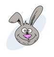 funny rabbit face hand drawn image vector image