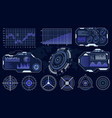 futuristic hud interface technological hud vector image