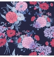 Gentle Retro Summer Seamless Floral Pattern vector image vector image