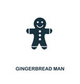 gingerbread man icon premium style design from vector image