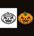 halloween pumpkin two styles vector image vector image